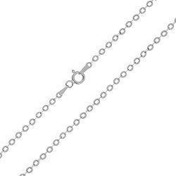 Серебряная цепь с родированием, 2,5 мм 000072093