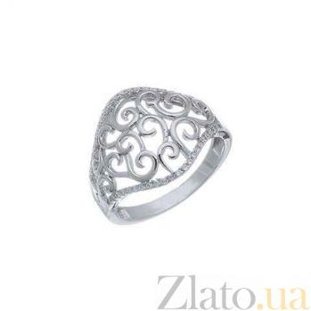 Ажурное серебряное кольцо AQA--XJT-0358-R