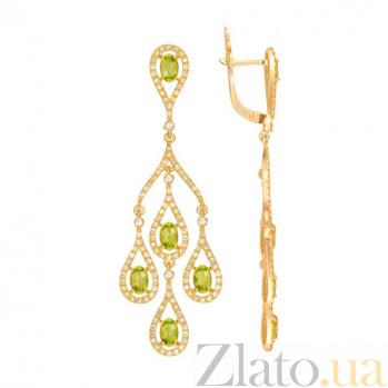 Серьги Патриция в желтом золоте VLT--ТТТ2400