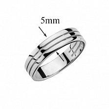 Обручальное кольцо в белом золоте Крепкий союз
