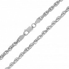 Серебряная цепь Монреаль с родированием, 3 мм