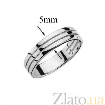 Обручальное кольцо в белом золоте Крепкий союз 000017773