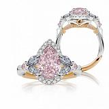 Кольцо Argile из белого и розового золота с розовыми сапфирами, топазами и бриллиантами