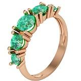 Золотое кольцо с изумрудами Изабелла