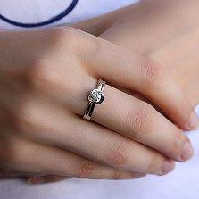 Кольцо из белого золота Весна с бриллиантом