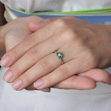 Золотое кольцо Мелисса с изумрудами и бриллиантами