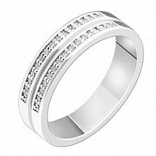 Золотое обручальное кольцо с бриллиантами Селестина