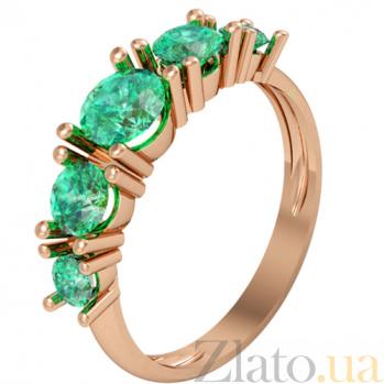 Золотое кольцо с изумрудами Изабелла KBL--К1930/крас/изум