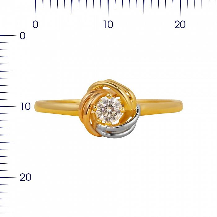 Кольцо из комбинированного золота Розалинда с цирконием 000081328