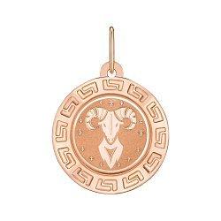 Подвеска из красного золота Знак Зодиака Овен 000147786