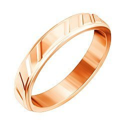 Серебряное обручальное кольцо с позолотой 000045409