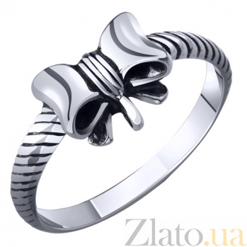 Серебряное кольцо Бант AUR--71091