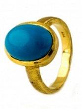 Серебряное кольцо Ротонда с бирюзой