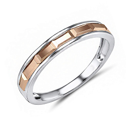 Обручальное кольцо Элодия из красного и белого золота