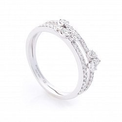 Кольцо из белого золота с бриллиантами 000096465