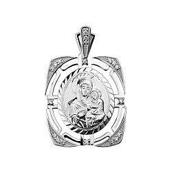 Серебряная ладанка с кристаллами циркония 000130339
