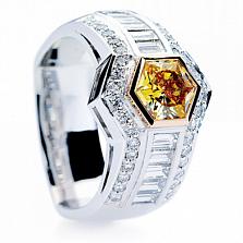 Кольцо Argile-Q с бриллиантами и мандариновым гранатом
