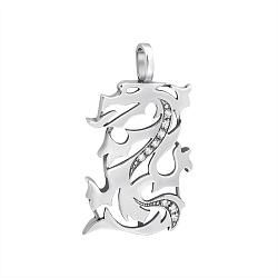 Серебряная подвеска Огнедышащий дракон с фианитами 000058950