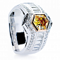 Кольцо Argile-Q с бриллиантами и мандариновым гранатом R-cjQ-W-1s-36d