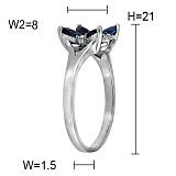 Кольцо из белого золота Обаяние с сапфирами и бриллиантами
