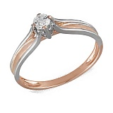 Помолвочное кольцо Майя из золота с бриллиантом