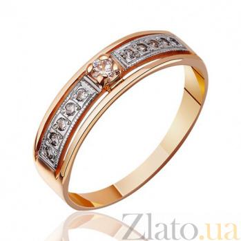 Золотое кольцо венчальное с цирконием Вечность EDM--КД032