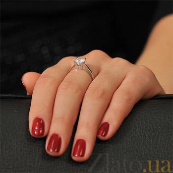 Золотое кольцо с бриллиантом Теодора 000017658