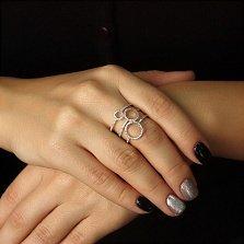 Золотое кольцо Тайные знаки с бриллиантами