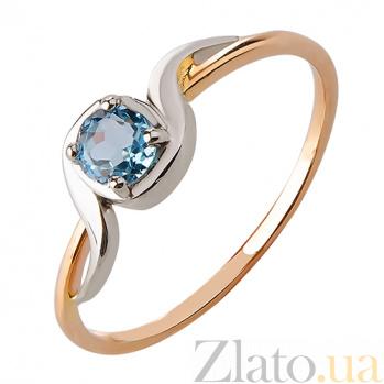 Кольцо из красного золота с голубым топазом Искренность TRF--1421513н/топ