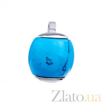 Серебряный кулон с бирюзой Эфиопия AUR--74504 27
