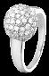 Серебряное кольцо с фианитами Сверкающий шар 000025744