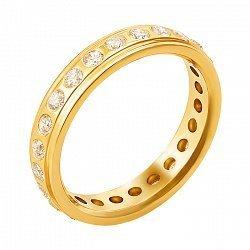 Обручальное кольцо из желтого золота с бриллиантами 000137801