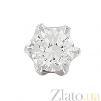 Золотые серьги с бриллиантами Габи KBL--С2386/бел/брил