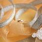 Золотая серьга-пуссета Лучик с фианитами, диам. 3мм 02812-6-0/01/0/171/одна