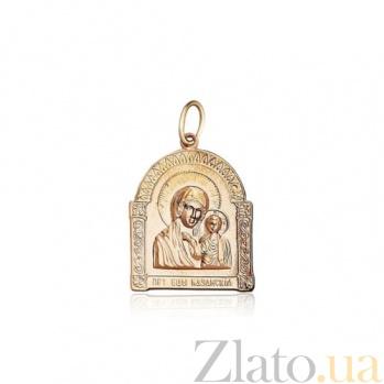 Золотая ладанка с ликом Божья Матерь EDM--П034