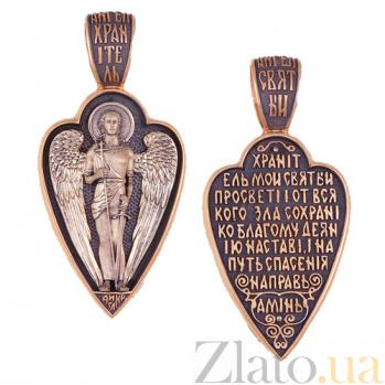 Ладанка из красного золота Ангел Хранитель HUF--11487-Ч