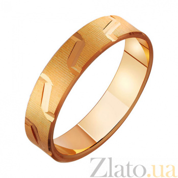 Золотое обручальное кольцо Священный союз TRF--411058