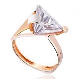 Золотое кольцо с цирконием Элегант