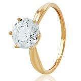 Золотое кольцо с кристаллом Swarovski Афродита