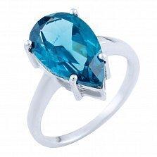Серебряное кольцо Сабина с топазом лондон