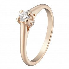 Золотое кольцо Флориана с бриллиантами