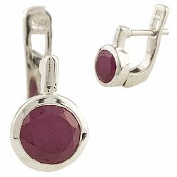 Серебряные серьги Эрма с рубинами