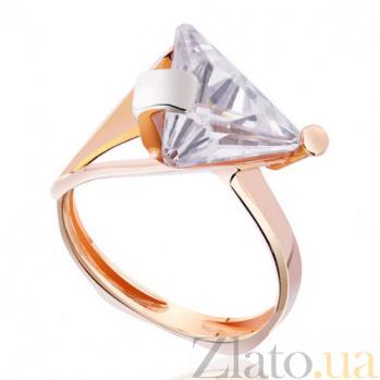 Золотое кольцо с цирконием Элегант EDM--КД0336