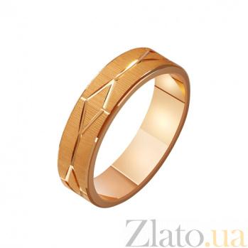 Золотое обручальное кольцо Лабиринт любви TRF--411204