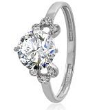 Золотое кольцо с кристаллом Swarovski Гвендолин