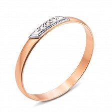 Обручальное кольцо Соната из комбинированного золота с бриллиантами