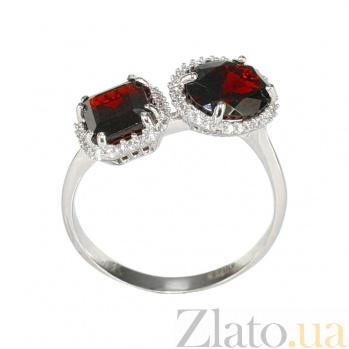 Золотое кольцо с гранатами и цирконием Бригитта 2К765-0023