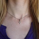 Золотой крестик Миракл с бриллиантами