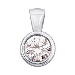 Кулон из белого золота с кристаллом Swarovski 000133277
