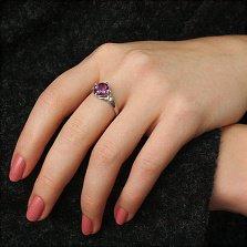 Серебряное кольцо Фрагранс с аметистом и фианитами